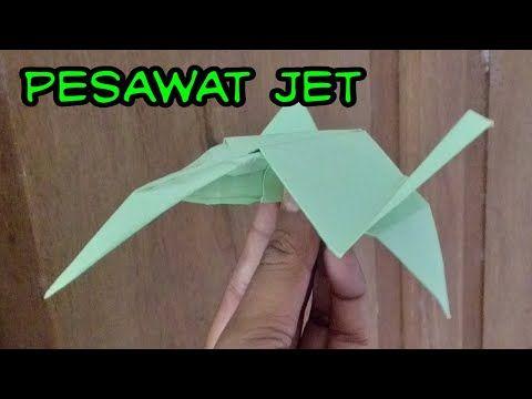 Pesawat Terbang Jet Cara Membuat Pesawat Terbang Dari Kertas Kerajinan Tangan Dari Kertas Youtube Origami Origami Plane Origami Easy