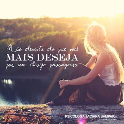 Psicóloga Jaciara Sampaio: #NãoDesista