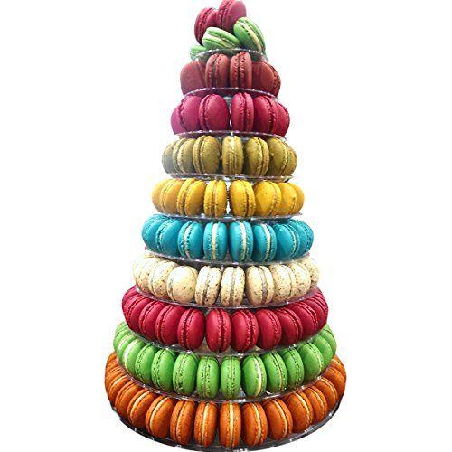 10 Tier Round Macaron Tower Stand Adjust Tiers Level Dia Https Www Amazon Com Dp B071j2zv53 Ref Cm Sw R Pi Dp U X Er Macaron Tower Macarons Macaron Stand