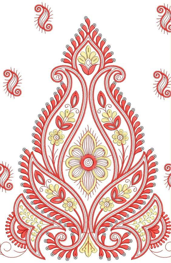 Saree Border Designs For Embroidery  Google Search