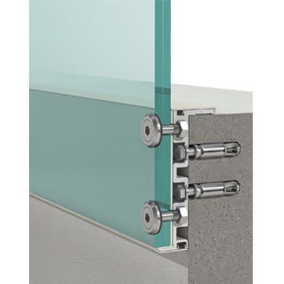 External Glass Balustrading (Balcony) System gouzao zhaopian langgan ganghua boli jinshujian