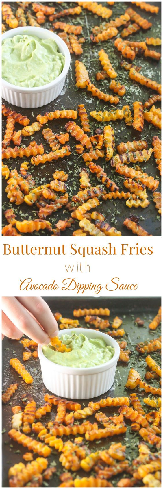 These Butternut Squash Fries with Avocado Dipping Sauce are packed with vitamins and fiber. Even potato lovers will ask for a second helping. From Lauren Kelly Nutrition