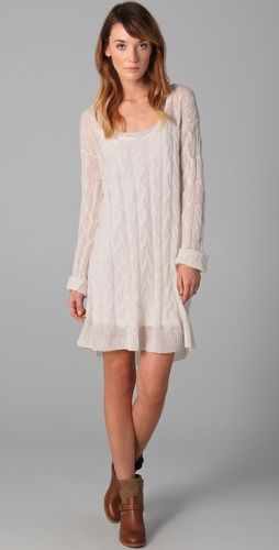 since i finally get some season-ish in my life I am determined to rock a sweater dress with some boots!