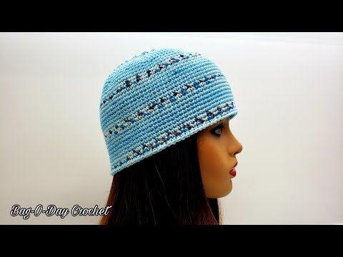 How To Crochet An Easy Single Crochet Beanie Unisex Hat Bag O Day Crochet Tutorial 617 Youtube Crochet Tutorial Crochet Crochet Beanie