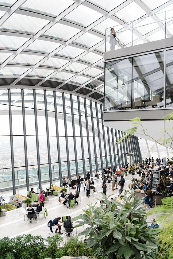 Sky Garden in London - a public garden on the 35th floor of the Walkie Talkie building in London with spectacular views. And it's free to visit!