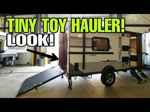 Smallest 18ft Toy Hauler Travel Trailer Rv Must See Youtube In 2020 Toy Hauler Travel Trailer Toy Hauler Camper Toy Hauler Trailers