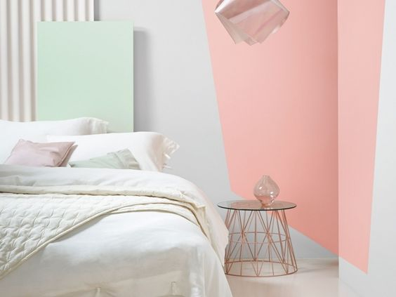 Pastel design and interieur on pinterest for Peinture couleur chambre a coucher