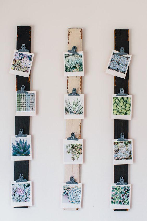 16 creative ways to display your polaroids plum and proper for Creative ways to display artwork