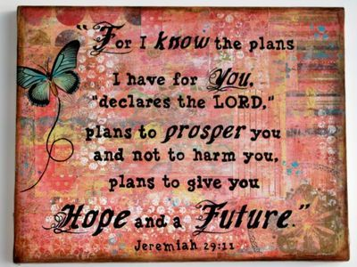 Mixed Media collage with scripture -