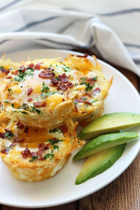 Hash Brown Egg Nests with Avocado | Recipe | Hash Browns, Nests and ...