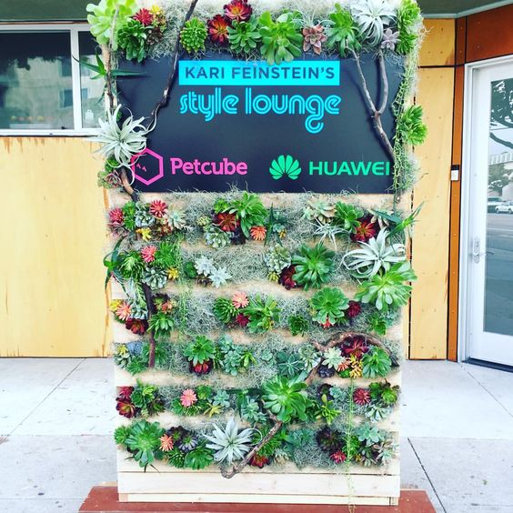 Succulent wall created by ROTDCreations for private event in Los Angeles  For inquiries contact : rotdcreations@hotmail.com