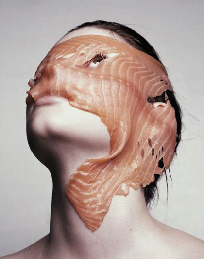 "I get this is ""ART"" but who the hell thought oh hey lets lay fish on your face and make you beautiful. WHAT THE HELL"