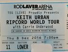 #Ticket  1 X KEITH URBAN TICKETS MELBOURNE AUSTRALIA RIPCORD TOUR 2016 carrie Underwood #Australia