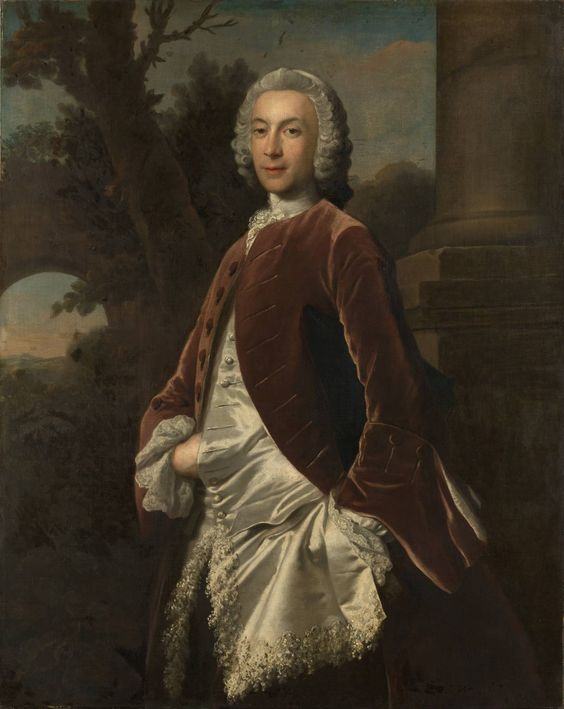 Joseph Highmore, A Gentleman in a Brown Velvet Coat', 1747: