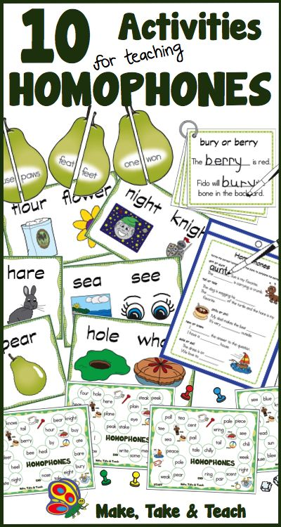 Direct Instruction Worksheets : Great activities for teaching homophones