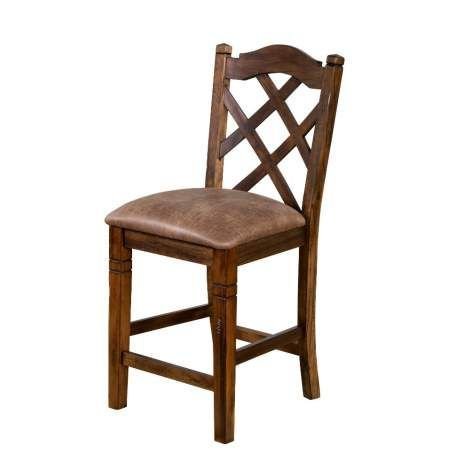 Dark Chocolate Savannah Dbl Crossback Stool, 24H