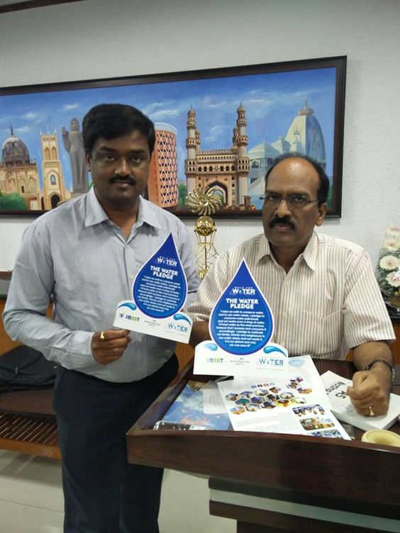 We are immensely happy to have Shri B. Janardhan Reddy Garu, Commissioner & Special Officer of Greater Hyderabad Municipal Corporation (GHMC) as Walk for Water Ambassador.