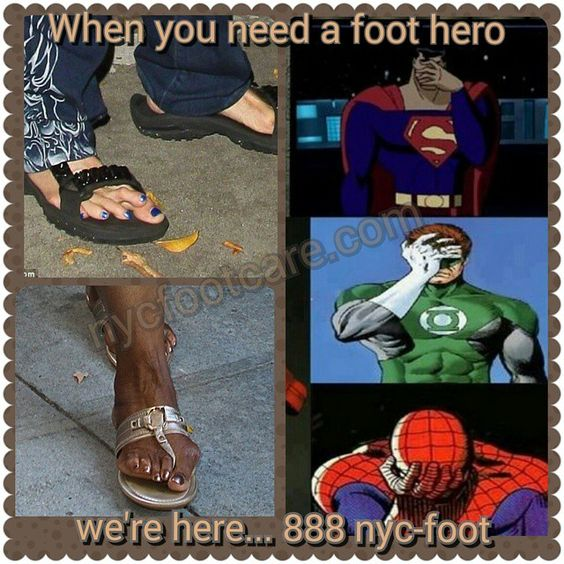 We're foot heroes.  Call us for a free consultation.  888-nyc-foot / nycfootcare.com  #NYC #ouch #celebrity #cosmetic #toes #makeup #manhattan #bronx #brooklyn #queens #fashion #fashionista #heels  #ugly #redcarpet #running #eww #yoga #ballerina #feet #fun #ballet #funny #dance #dancer #repost #success #style  #stylist #shoes