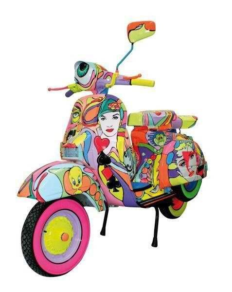 Custom Painted Vespa Scooter | #mods