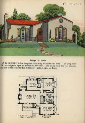 Artistic Homes Build A Home First Vintage House Plans Spanish Bungalow Vintage House