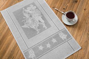 Waffeltuch Trachtenpaar 45x73 cm