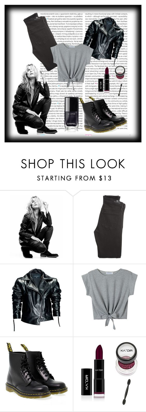 """""""Untitled #152"""" by lejla4567 ❤ liked on Polyvore featuring Oris, Superfine, Citizens of Humanity, Leka, WithChic and Dr. Martens"""