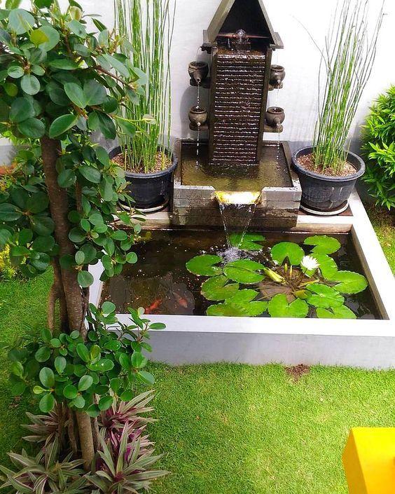 17 ไอเด ย การออกแบบบ อเล ยงปลา ท เหมาะก บบรรยากาศช วๆ ในสวนบ านค ณ Ihome108 Ponds Backyard Small Backyard Ponds Backyard Water Feature