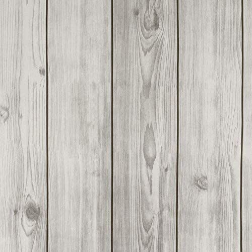 Grey Leeya Faux Wood Wallpaper