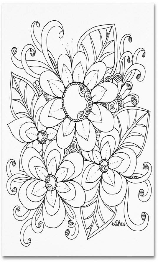 Kcdoodleart Flower Girls 6 Canvas Art 1 X 16 X 20 Paper Quilling Flowers Coloring Pages Color