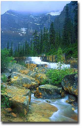 The Giant Steps waterfalls, Paradise Valley, Banff National Park