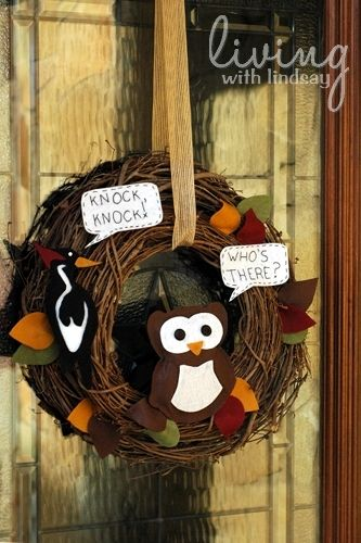 Knock, Knock! Who's There? It's a DIY Wreath!