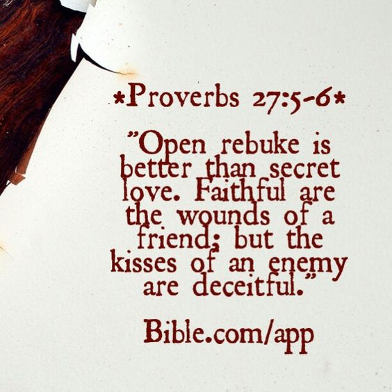 """#F4T  How many of us are actually mature enough to receive what this Scripture is speaking of? Everyone loves to be rewarded...but no one wants to be rebuked! Everyone wants celebration...but no one wants correction! However, if we are ever to get to the level GOD wants for us to be, it will require true correction, rebuke, and instruction for us to improve! So ask yourself """"Am I willing to be properly rebuked by spiritual leaders, friends, and family to be better in GOD?""""  *Proverbs 27:5-6…"""