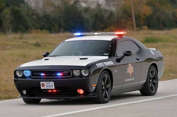 Texas Highway Patrol Challenger Modified 6 Speed Manual Police Cars Dodge Challenger Police