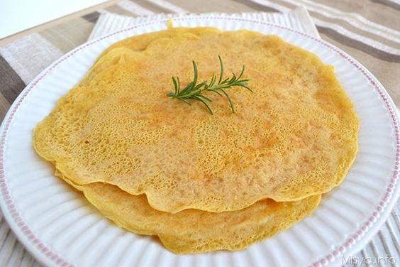 Crepe con farina di ceci, scopri la ricetta: http://www.misya.info/2015/06/02/crepe-con-farina-di-ceci.htm