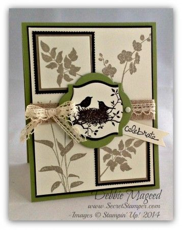 """By Debbie Mageed, featuring Stampin' Up! stamp sets """"World of Dreams"""" and """"Good Greetings"""" ..."""