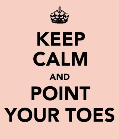 Keep Calm & Point Your Toes!  Get some new dance attire or take some dance lessons at Loretta's in Keego Harbor, MI!  If you'd like more information just give us a call at (248) 738-9496 or visit our website www.lorettasdanceboutique.com!: