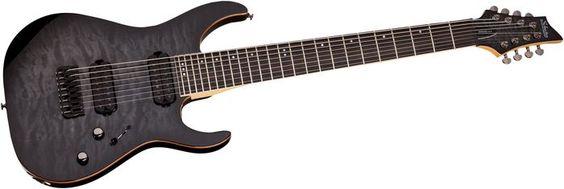 Schecter Guitar Research Banshee-8 8-string Active Electric Guitar Trans Black Burst