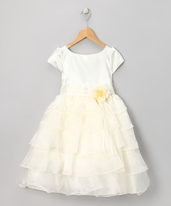 White Ruffle Dress - Toddler & Girls