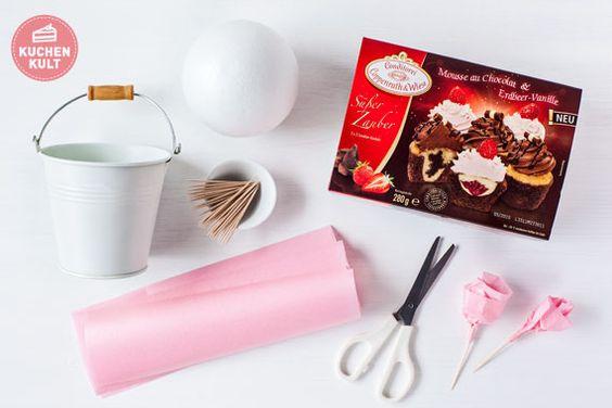 #Muttertag, #Cupcakes #Strauß, #Geschenk, #Idee ; #Mother's Day, #Gift, cupcake-bouquet, #Tutorial
