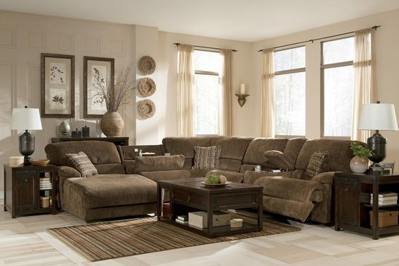 Reclining Sectional Reclining Sectional Sofas And Truffles On Pinterest