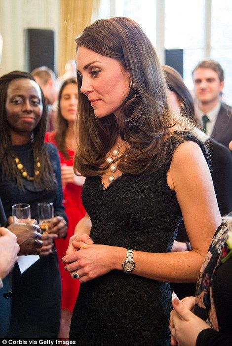 Catherine spoke to guests at the British Embassy: