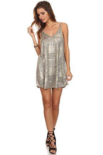 MeshMe Womens Ida - Metallic Gold Thread Sleeveless Trapeze Short Mini Dress MeshMe http://www.amazon.com/dp/B018375QHS/ref=cm_sw_r_pi_dp_XSPbxb1EQ8NC6