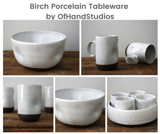 Birch Porcelain Tableware by OfHandStudios