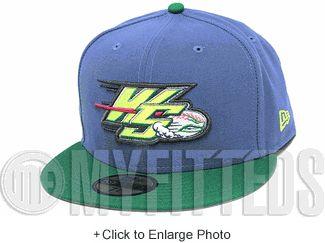 Winston Salem Dash Slate Blue Kelly Green Volt Berry LeBron XI GS New Era Fitted Hat