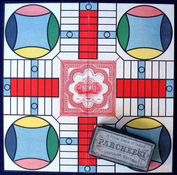 Play Parcheesi! A game from India originally called Pachisi.