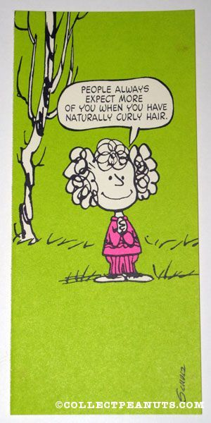 Charlie brown naturally curly hair quote