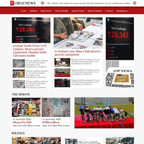 Public News Website Template Free Download Free Website Templates Website Template Templates Free Download