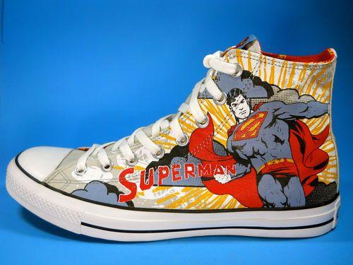 mens converse superman sneakers tennis shoes dc comics