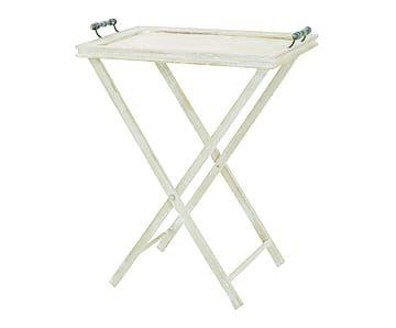 Mesa bandeja plegable de madera de paulonia y DM