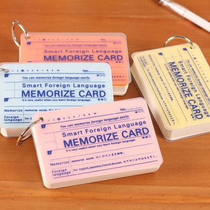 Angel Zimu stationery lovely color portable language learning and memory card 008 card hoops notes